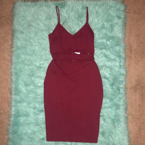 NWT Windsor Burgandy Mini Dress